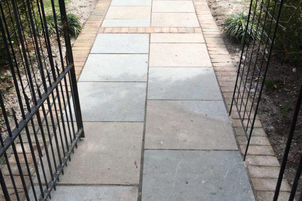 Blue Stone & Brick Walkway